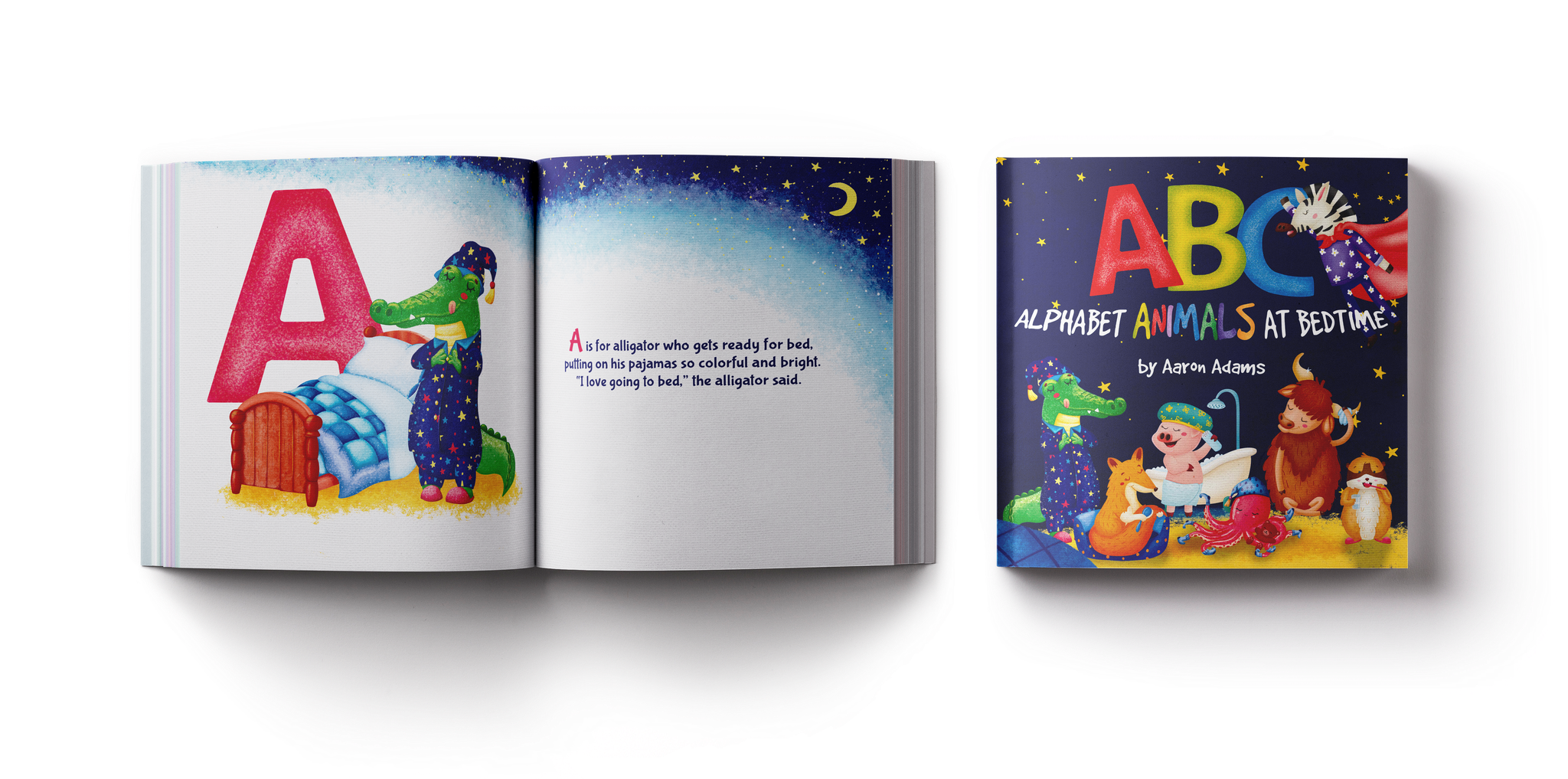 ABC Alphabet Animals At Bedtime: An ABC Book For Kids