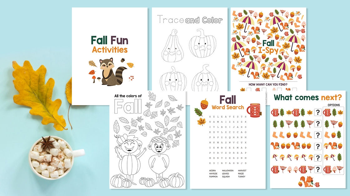 5 Free Fun Fall Printables For Children You'll Actually Want!