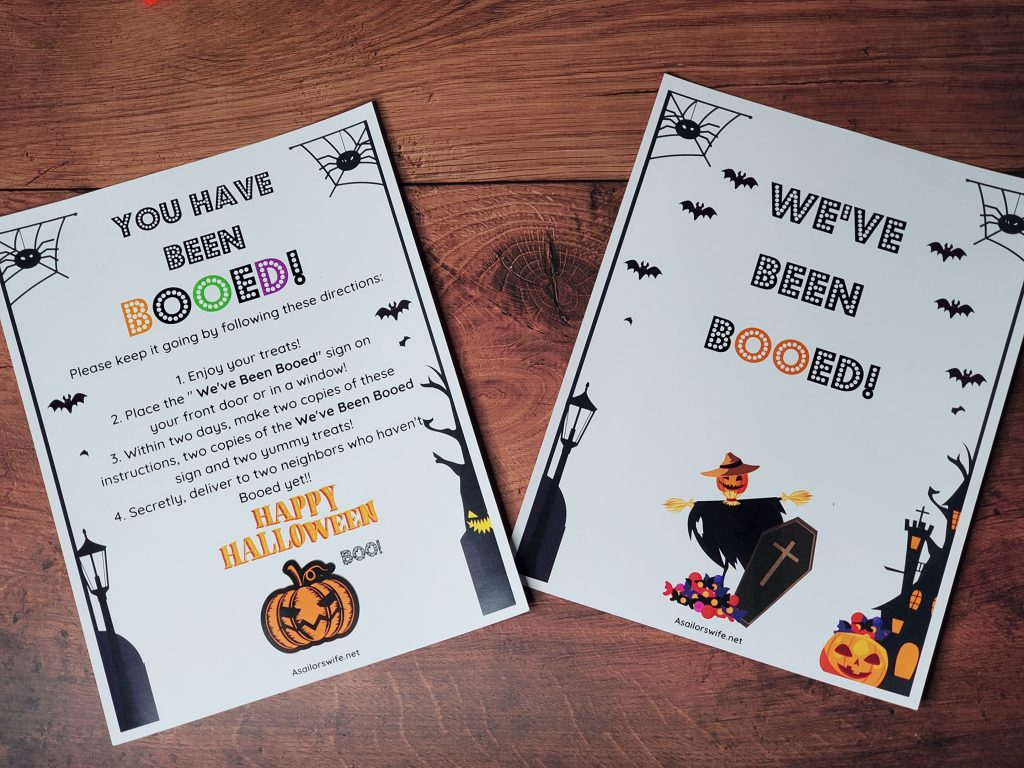 You've Been Booed Halloween Family Activity