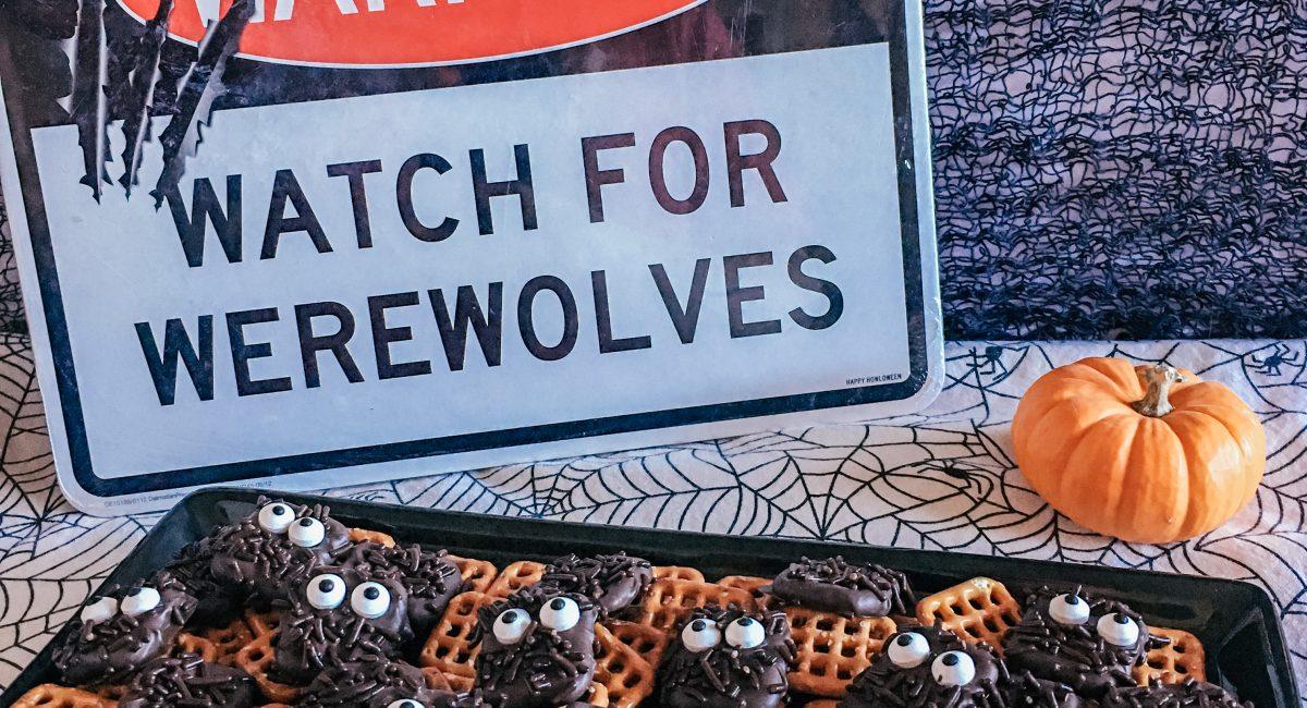 Simple and Easy Halloween Treat Recipe: Werewolf Pretzel Squares