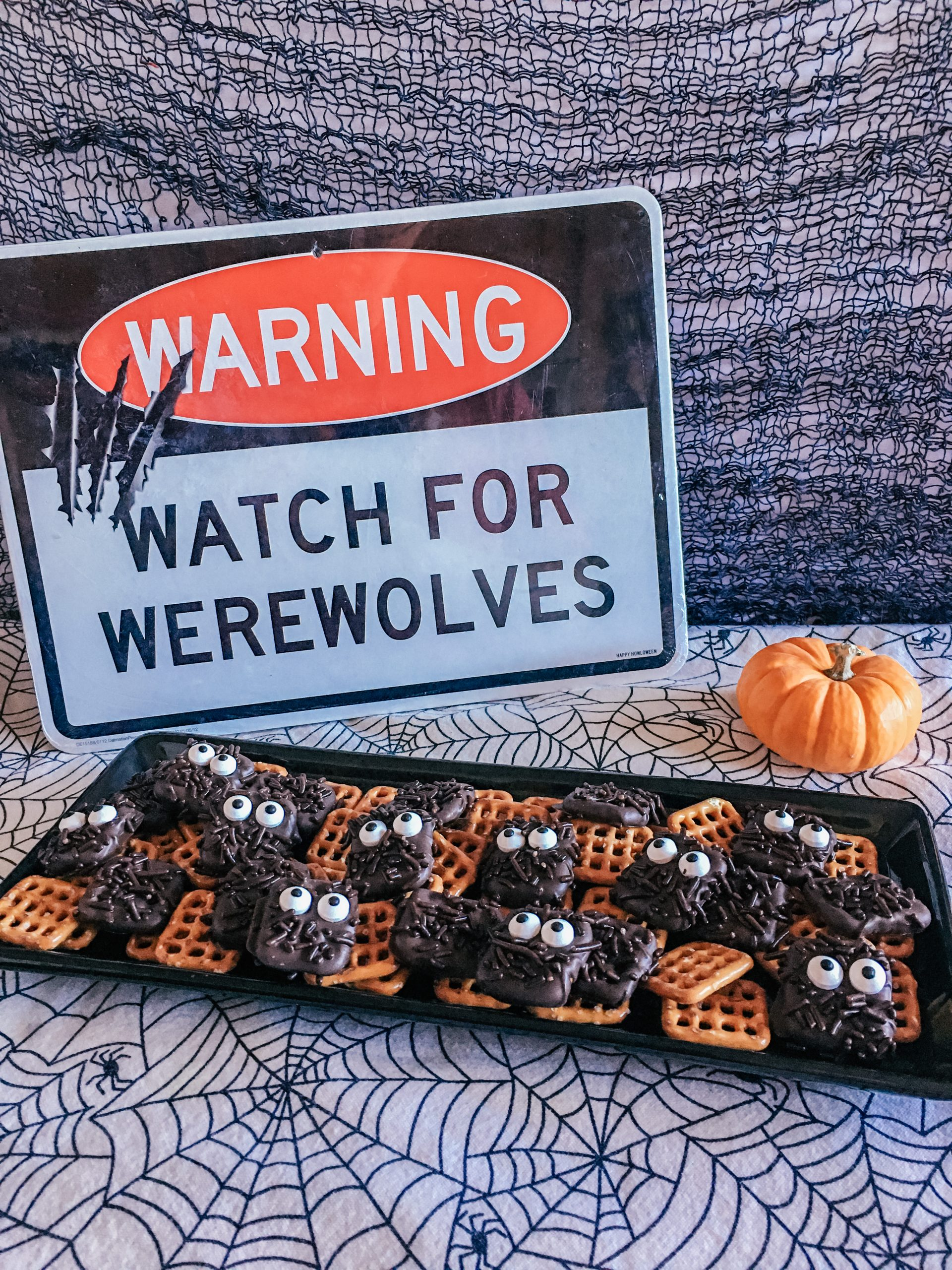 Simple and Easy Halloween Treat Recipe: Werewolf Pretzel Squares