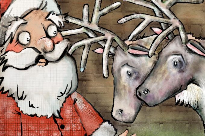 a reindeer's christmas