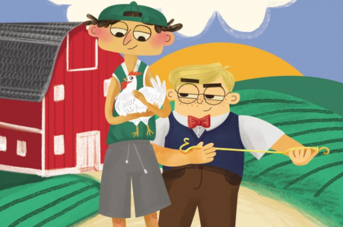 burgerhead and mean jerry visit the farm