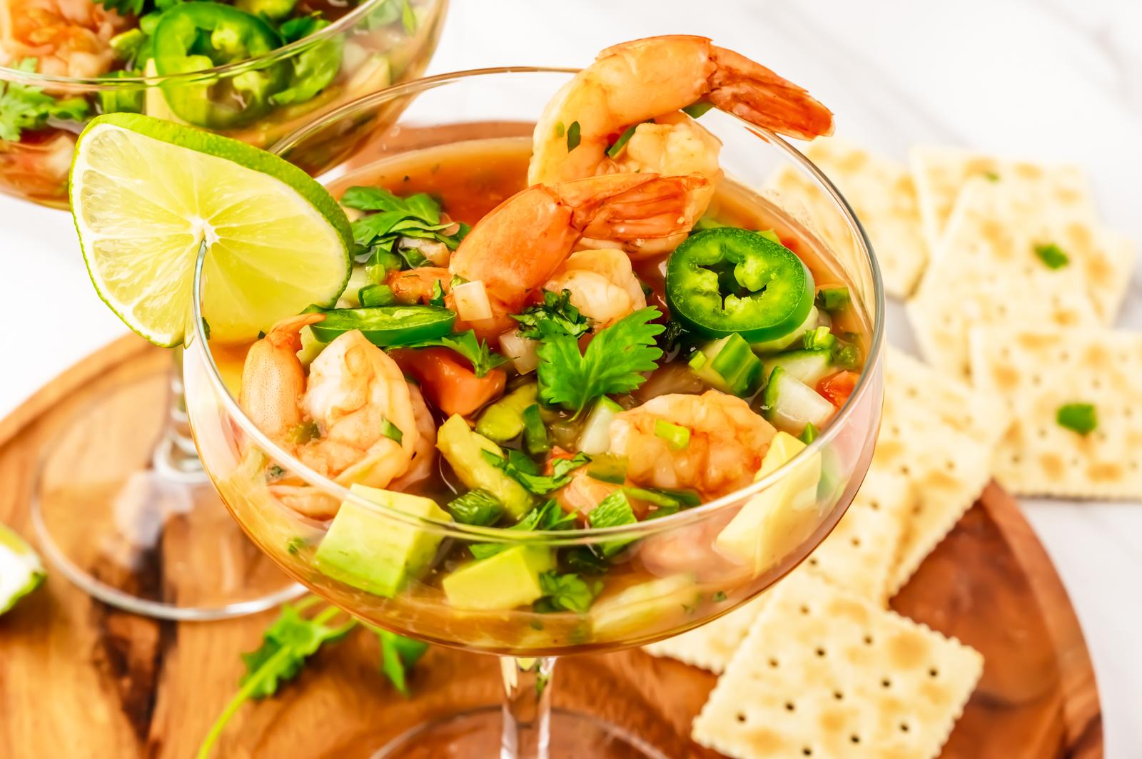 Coctel de Camarones ~ Mexican Shrimp Cocktail Recipe